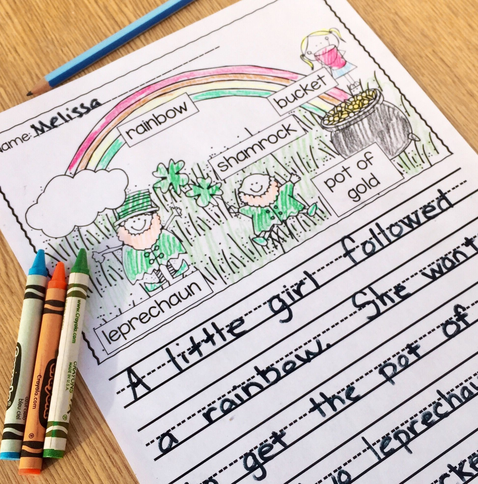 Supporting Beginning Writers Using Labeled Picture Prompts
