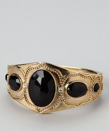 Take a look at this Gold & Black Princess Bracelet by Finish the Look: Accessories on #zulily today!