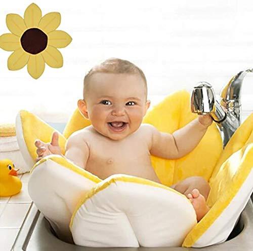 Amazon Com Baby Bath Blooming Flower Newborn Bathtub Mat Baby Shower Cushion Skin Bath Pad Foldable Portable Sink Ba Baby Bath Tub Newborn Bath Tub Baby Bath