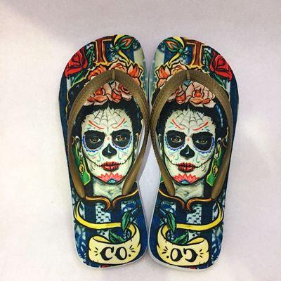 512822341 Mach.8 | Personalizados - Chinelo Frida Kahlo | Chinelos ...