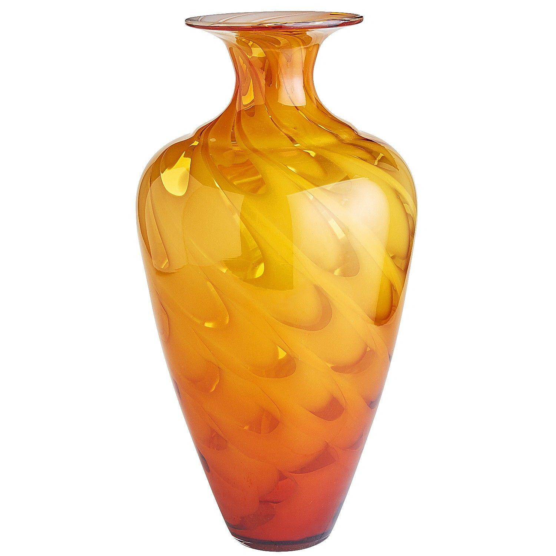 Art Glass Swirl Tall Vase - Amber | *Home & Garden > Decor ...