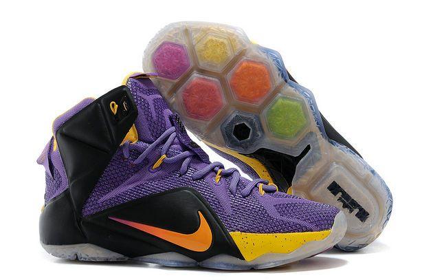 Nike Lebron 12(XII) Purple Black Gold Shoes