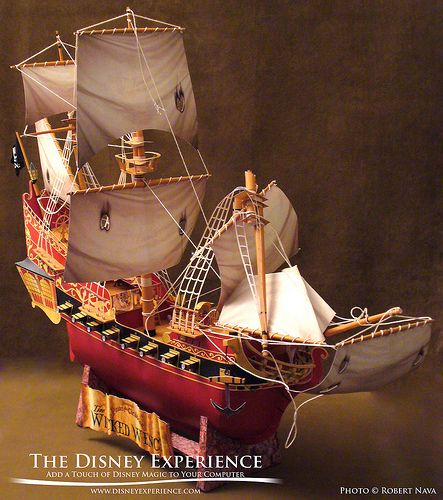 Description : Wicked Wench Paper Model consists of 277 individual