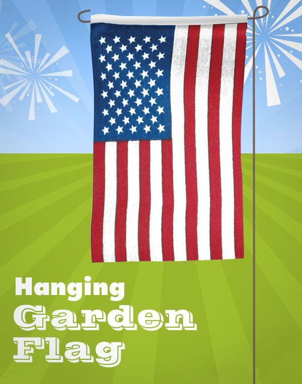 Enhance your outdoors with an American hanging garden flag! http://www.menards.com/main/outdoors/outdoor-decor/flags/12x18-u-s-garden-flag/p-1478229-c-10142.htm?utm_source=pinterestutm_medium=socialutm_campaign=4thofjuly