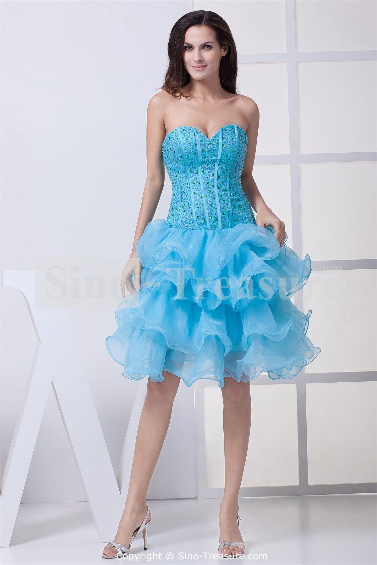 Satin Sweetheart Hourglass Sleeveless Princess Cocktail Dress ...