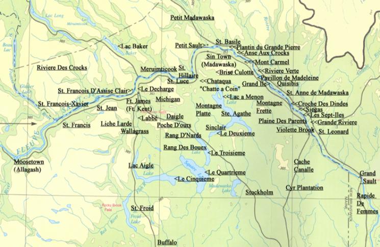 Acadian Genealogy Homepage Madawaska Maine Acadian Place Names