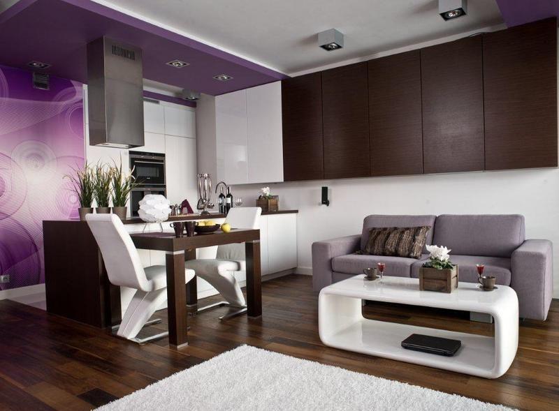 Aranzacja Kuchni Otwartej Na Salon Biale Meble Kuchenne Ciemne Home Decor Interior Home
