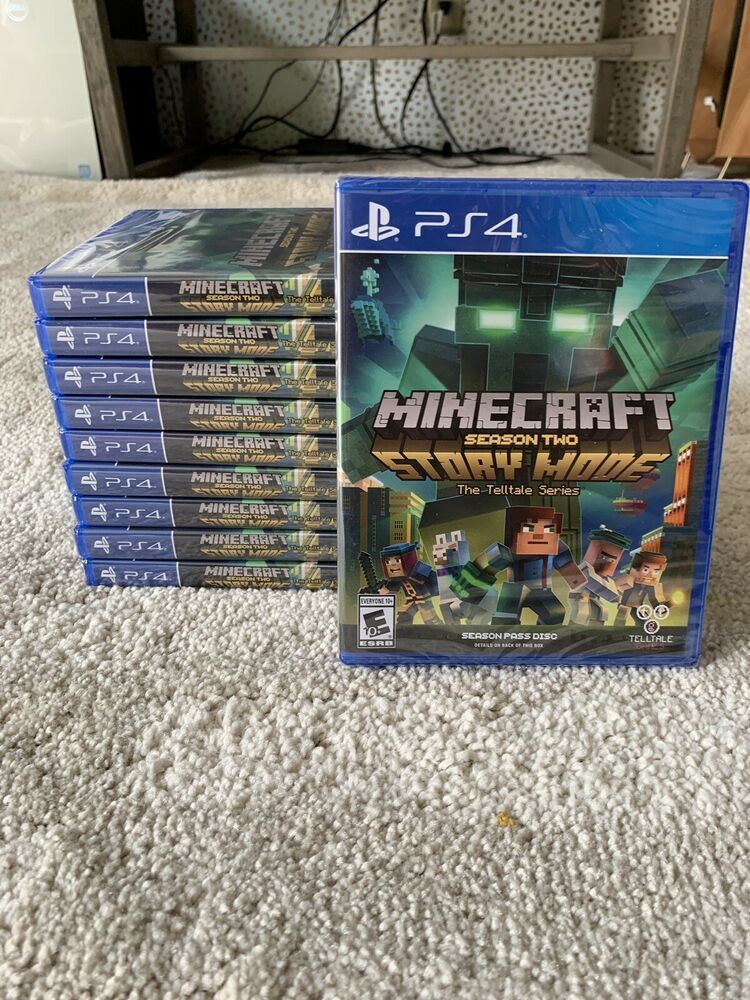 PS4 Minecraft Story Mode Season 2 LOT Of 10 Sony PlayStation 4 NEW