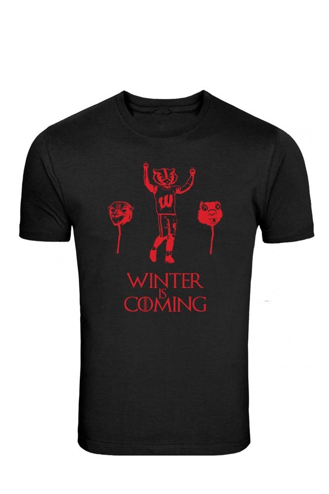 Image of Bucky Badger Winter is Coming Game of Thrones Tee Packers Gear 262fe254c