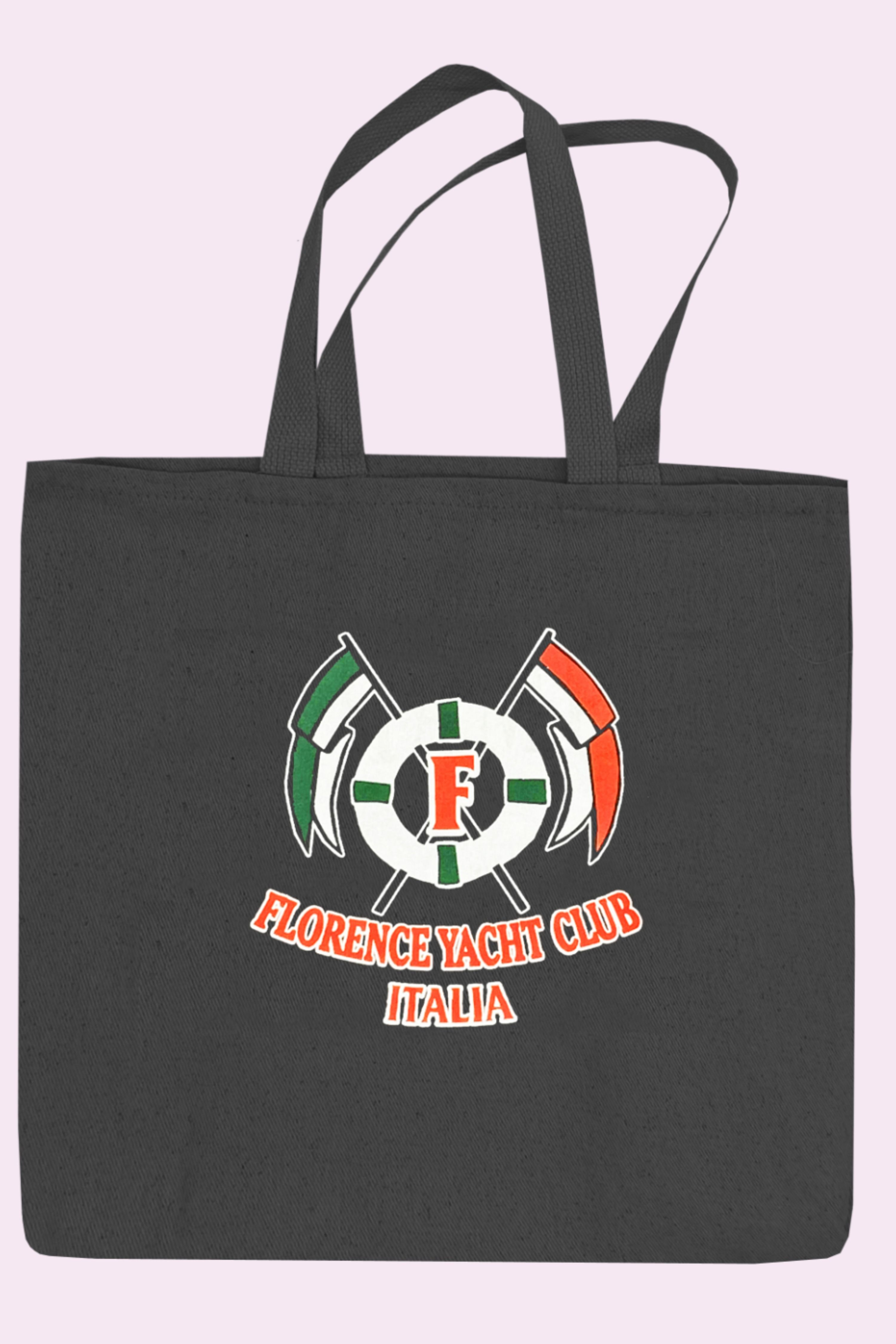 Florence Italy Yacht Club Cross-Flags 12 Oz Canvas Tote ...