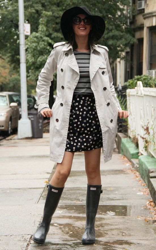 Mix spots and stripes -- just keep the whole outfit in neutral hues.