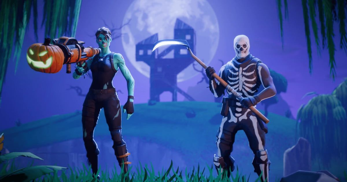 Fortnite Halloween Event Could Bring Back The Skull Trooper Skin Digital Trends Ghoul Trooper Background Images Wallpapers Fortnite