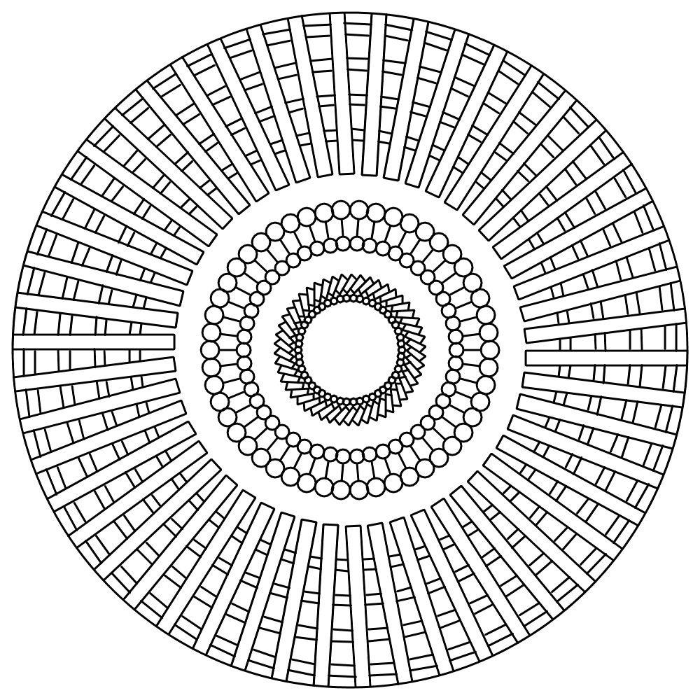 Moderno Mandala Gratis Para Colorear Imágenes - Dibujos Para ...