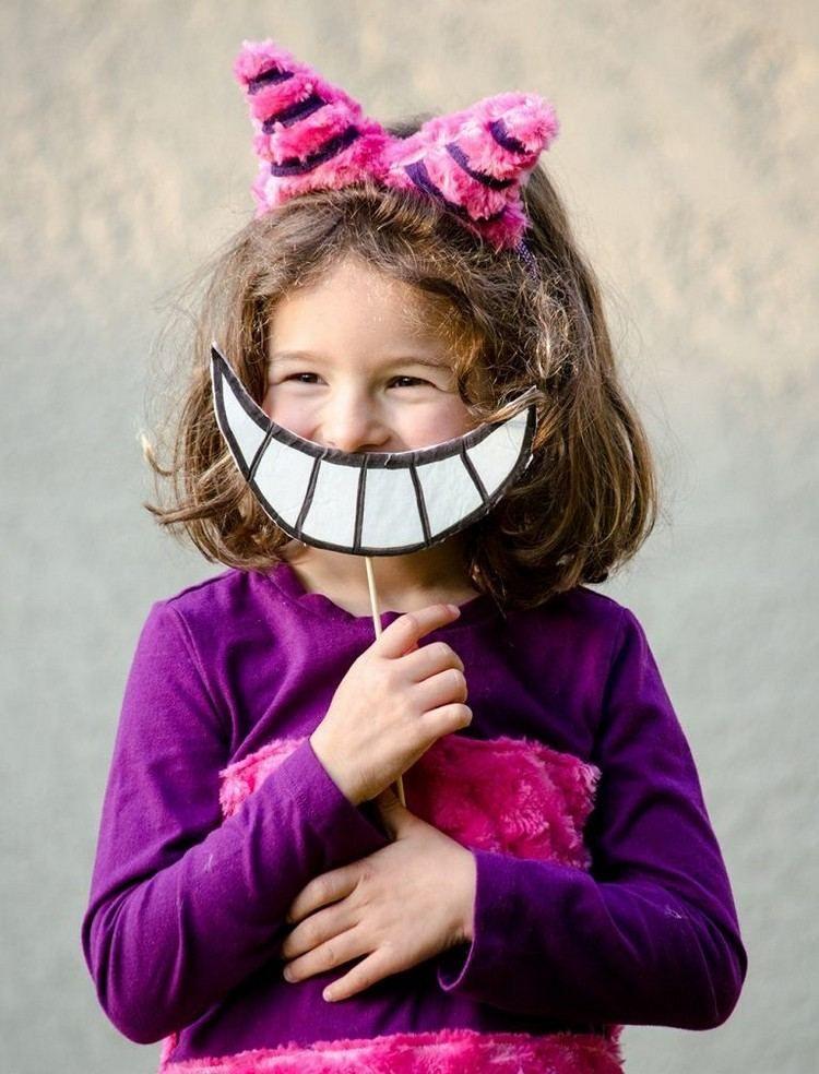 Grinsekatze Kostüm selber machen und das Lächeln basteln | Fasching ...