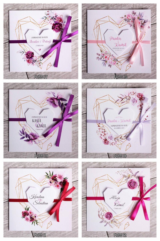 Zaproszenia Slubne Na Slub Geometryczne Boho Serca 7972172716 Oficjalne Archiwum Allegro Free Printable Wedding Invitations Printable Wedding Invitations Free Wedding Printables