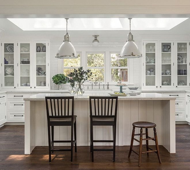 Kitchen Lighting. The Pendants Over The Island Are The Ralph Lauren Fulton  Medium Pendant In
