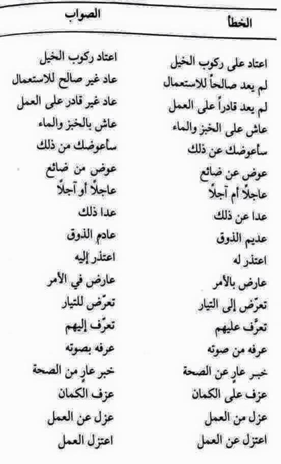 أخطاء شائعة قل ولا تقل Beautiful Arabic Words Learn Arabic Language Arabic Language