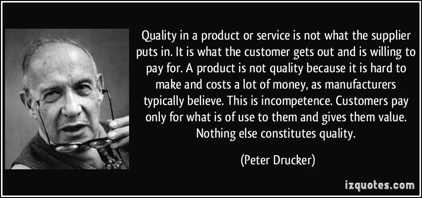 Image result for peter drucker quotes quality