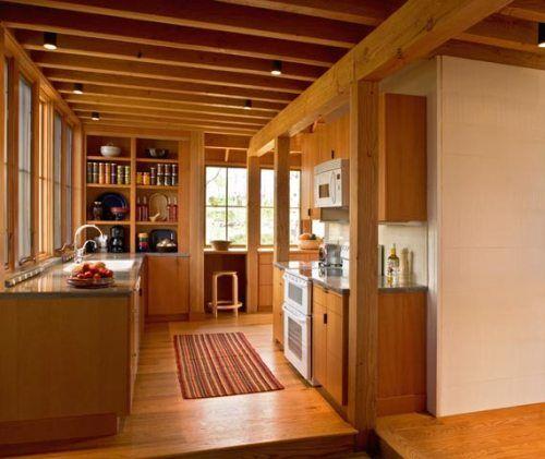 Contoh Dapur Rumah Kayu Modern