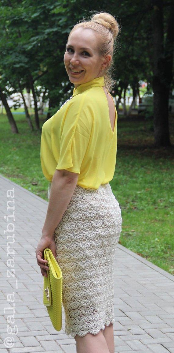 ec9cb8151dff Arielle crochet lace skirt detailed pattern for women PDF instant download  written instruction photo