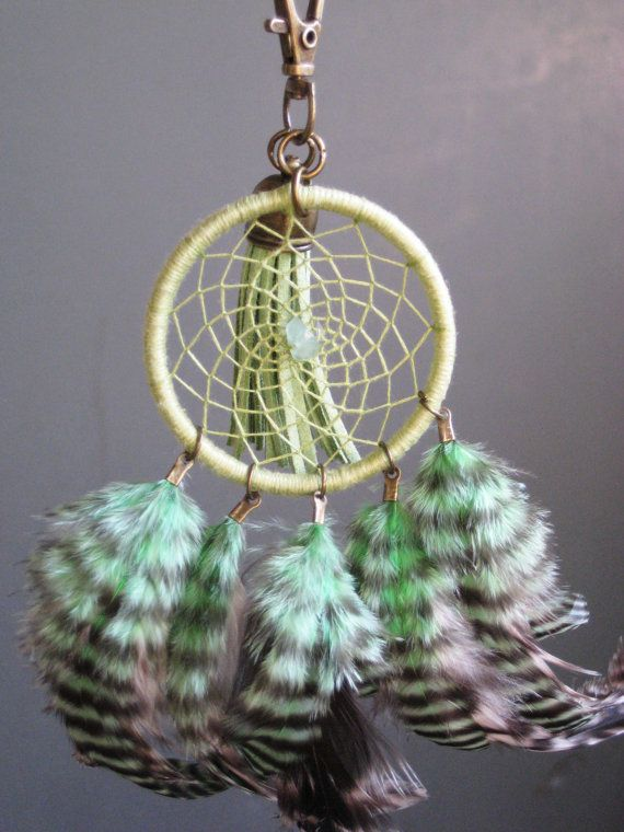 Lime+Green+Dreamcatcher+KeychainOOAK+by+HelloHarts+on+Etsy,+$20.00