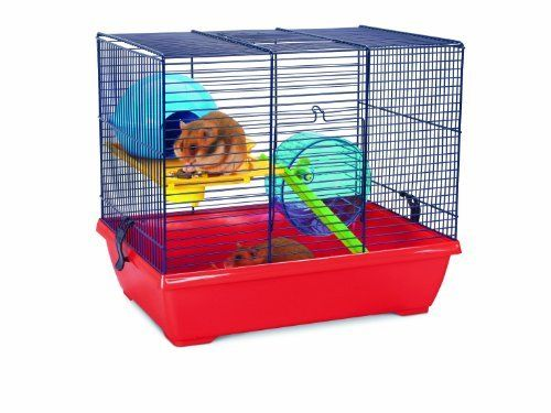 Savic Noddy Double Navy Blue Hamster Cage 425 X 295 X 37 Cm See This Great Product Small Animal Cage Hamster Cage Pet Cage