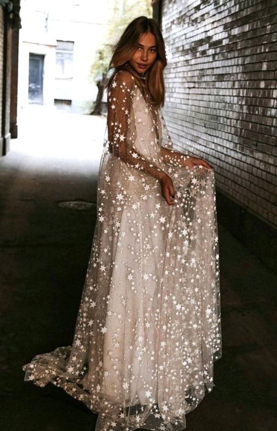 7af09ac4bb985 Counting Stars Boho Wedding Dress by Boom Blush. Unique Vintage ...