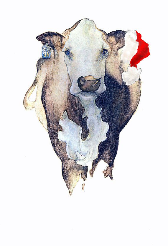 Christmas Cow | Christmas | Pinterest
