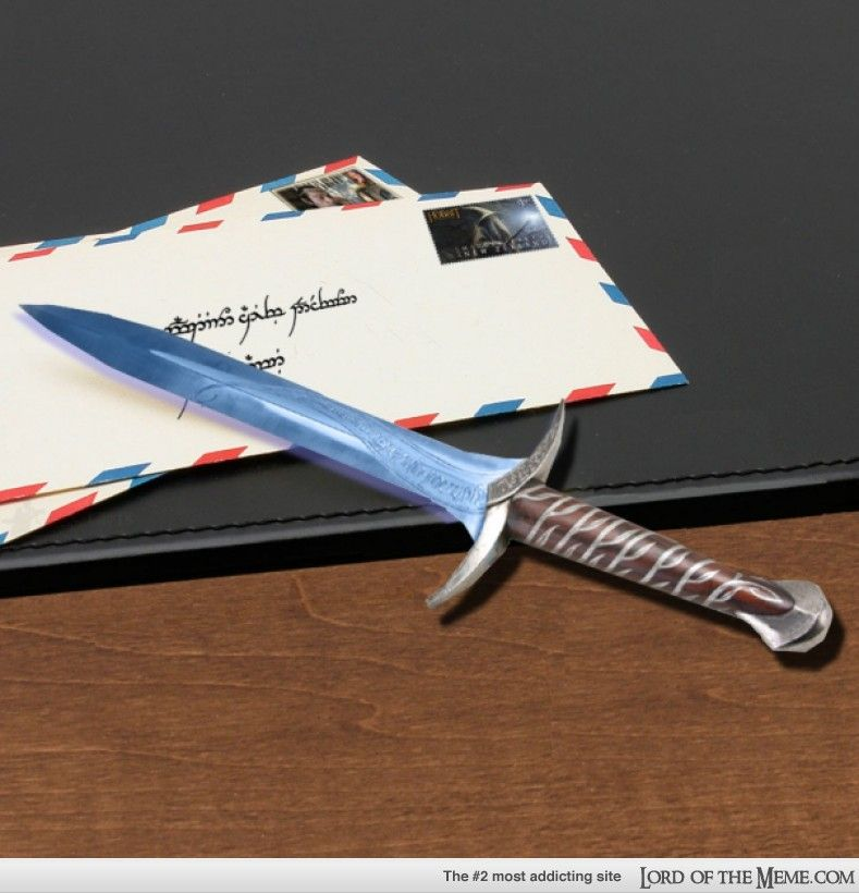 It S Just A Letter Opener With Elven Script The