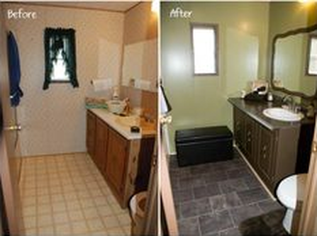 Image Result For Before And After Photos Of Manufactured Home Remodels Remodeling Mobile Homes Mobile Home Bathroom Manufactured Home Remodel