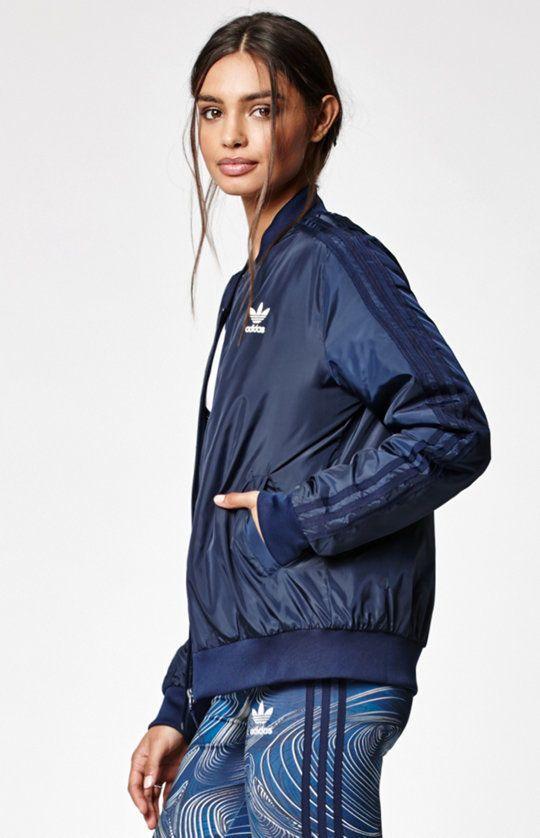 MED.3PC SET adidas Women\u0027s BLUE GEOLOGY : SUPERSTAR Jacket Leggings \u0026 Tank  Top