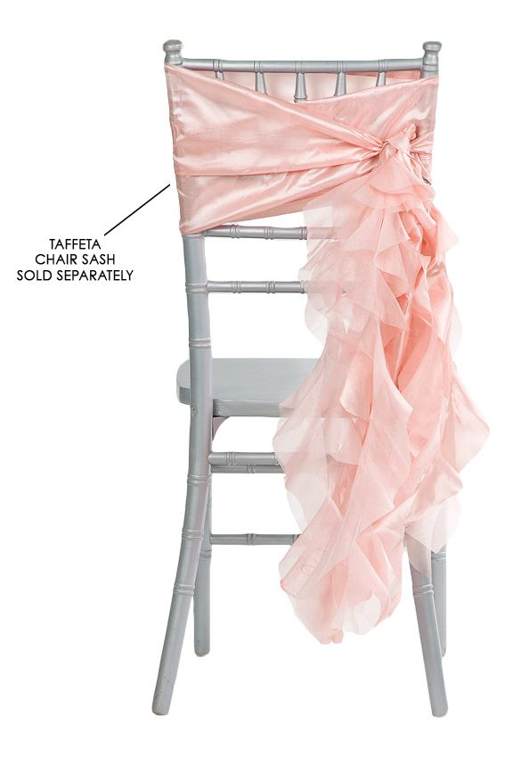 Curly Willow Chair Sash - Blush/Rose Gold
