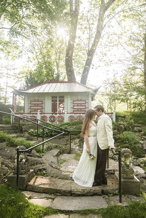 Gorgeous Natural Light Wedding Portrait In The Glen Burnie Gardens At Museum Of Shenandoah Valley Winchester Virginia