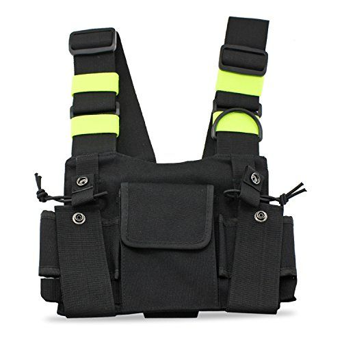 Universal Pocket Bag Radio Chest Harness Front Pack Pouch Bag Walkie Talkie USA