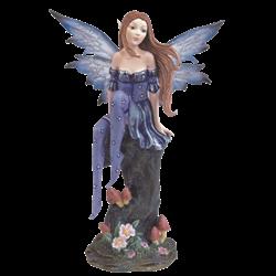 Blue Fairy on Tree Stump