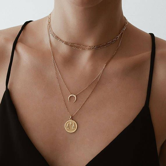 Horn Necklace, Bar Necklace, Best Friend Necklace, Dainty Necklace, Mom Necklace, Mother Daughter Necklace, Necklace, Gold Necklace, Chains