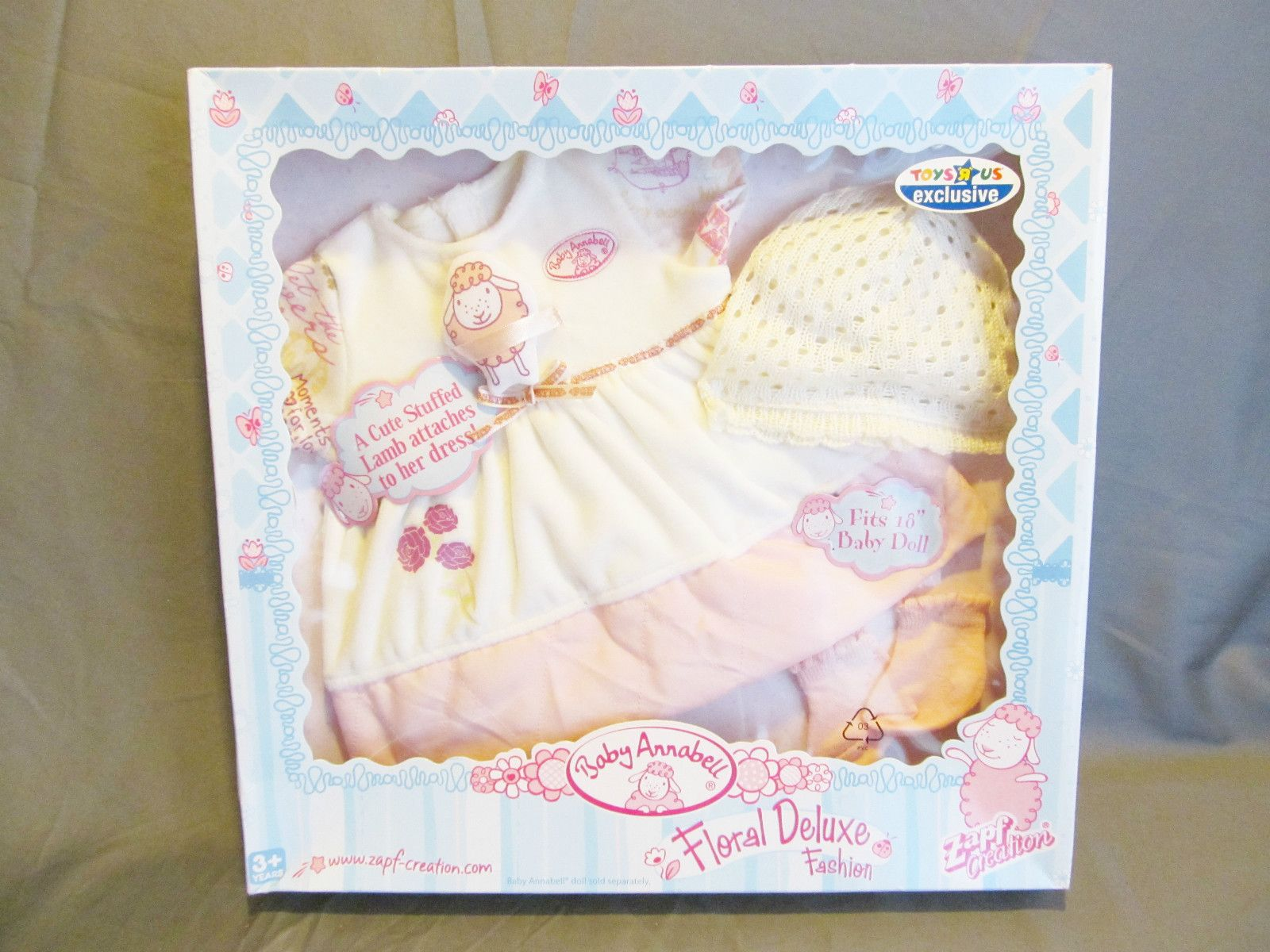 ZAPF BABY ANNABELL DOLL CLOTHES FLORAL DELUXE FASHION SET TOYS R US