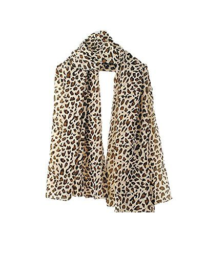 SAMGU Fashion Foulard Echarpe Léopard 16060CM Chiffon Soie pour Femme 0210f1a1b1d