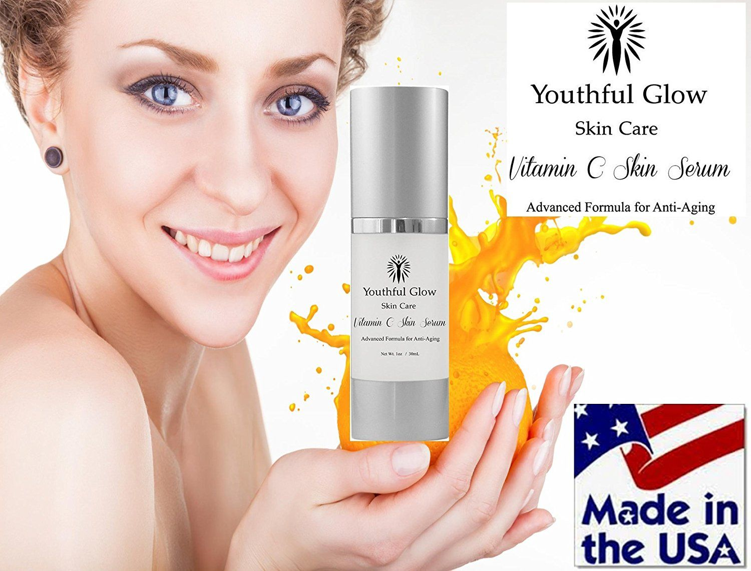BEST Vitamin C Serum for face, eyes and skin Nature's