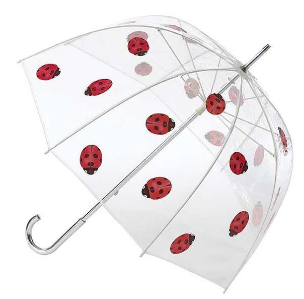 "Ladybug Umbrella  (LDYBUG)  $24.99    48"" arc, 100% PVC.  Manual stick.  Aluminum shaft & handle.  Unbreakable fiberglass ribs.     http://www.shopthesilverlining.com/Umbrellas.html"
