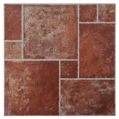 track terracotta ceramic tile floor