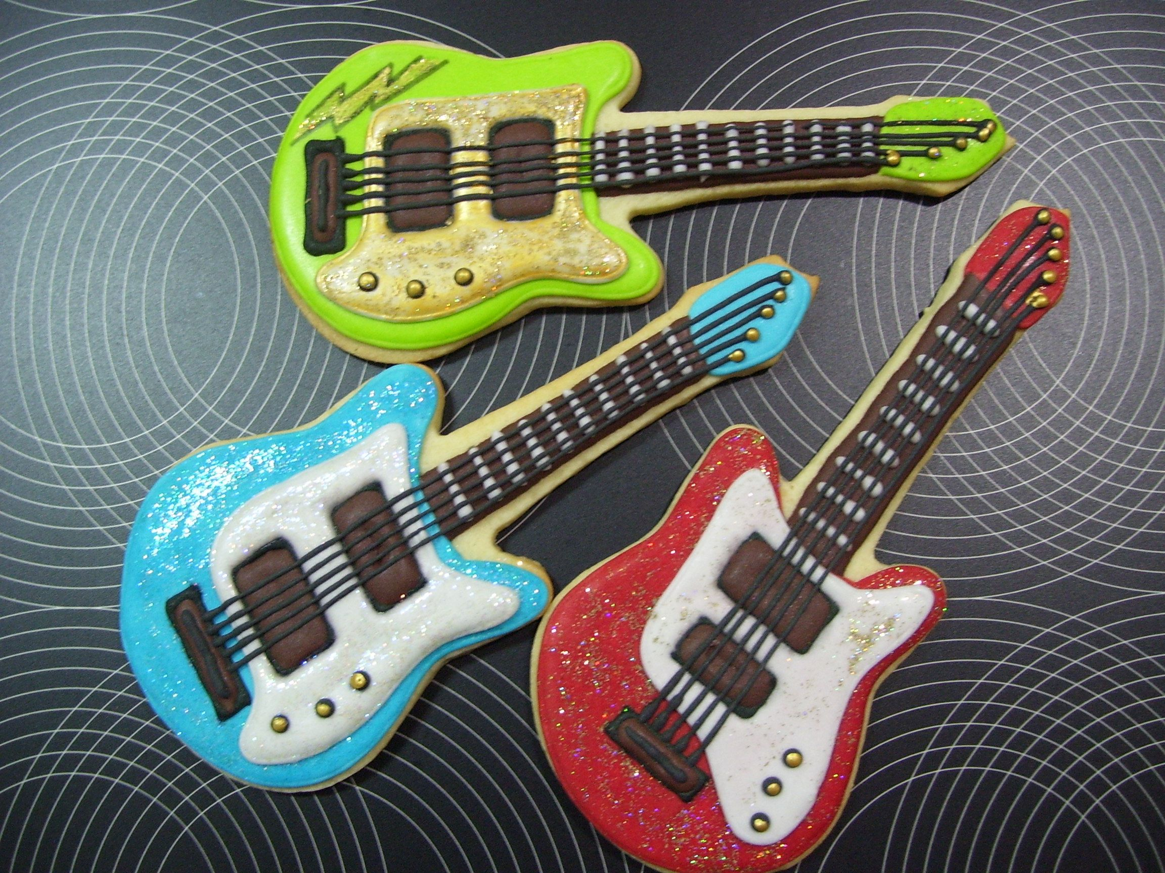Guitarras Decoradas Guitar Cookies Galletitas 3 Pinterest
