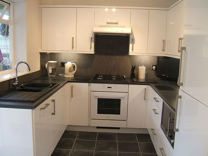 White Cabinets Grey Tiles Black Worktop Cabinets Too Shiny