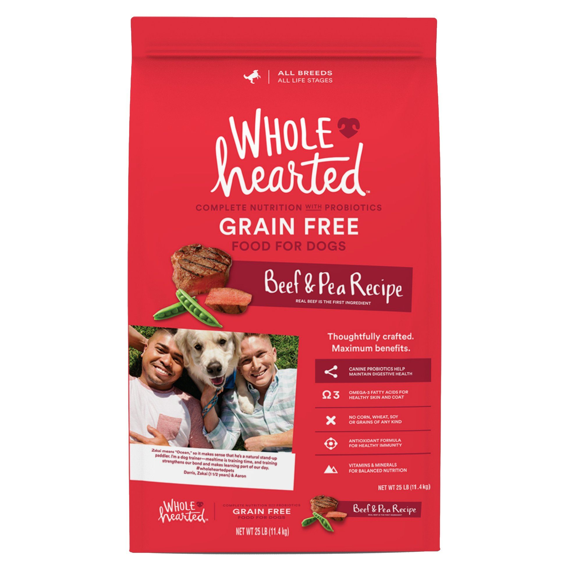 Wholehearted Grain Free All Life Stages Beef Pea Formula Dry Dog