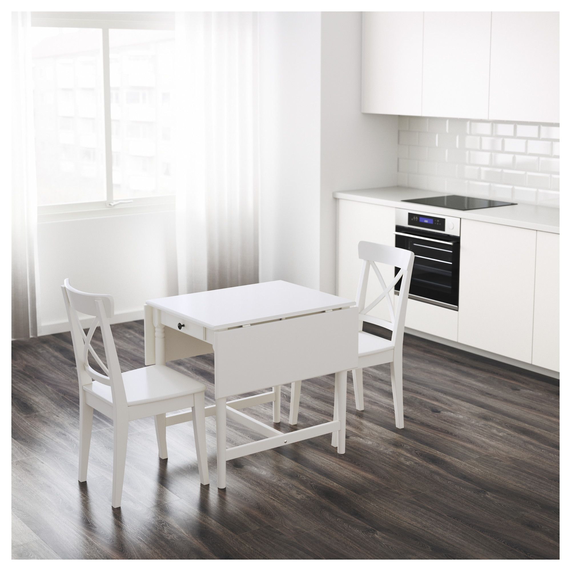 IKEA - INGATORP Drop-leaf table white | arizona | Tavolo, Tavolo ...