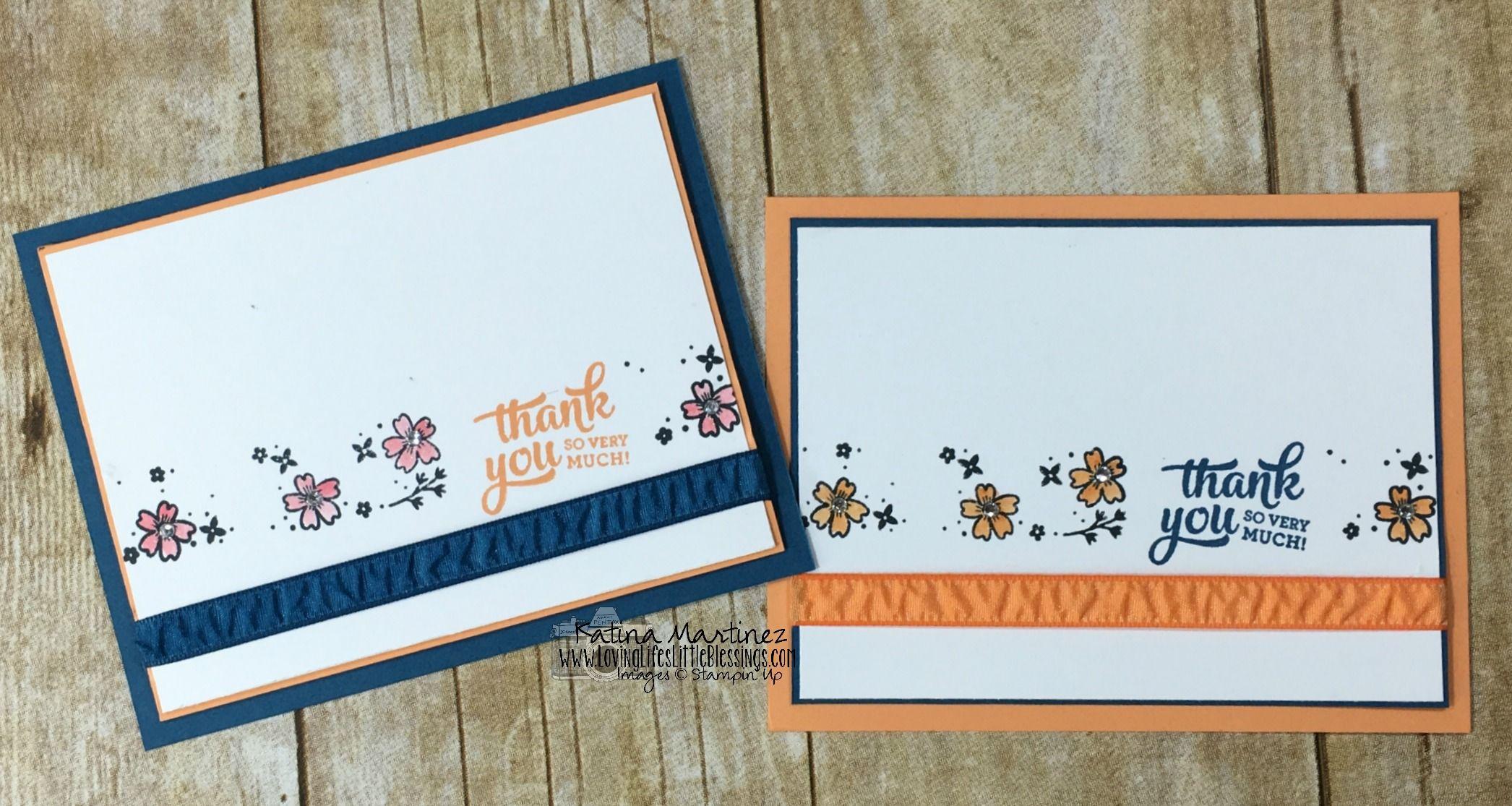 simple card using stampin' up mixed borders  katina