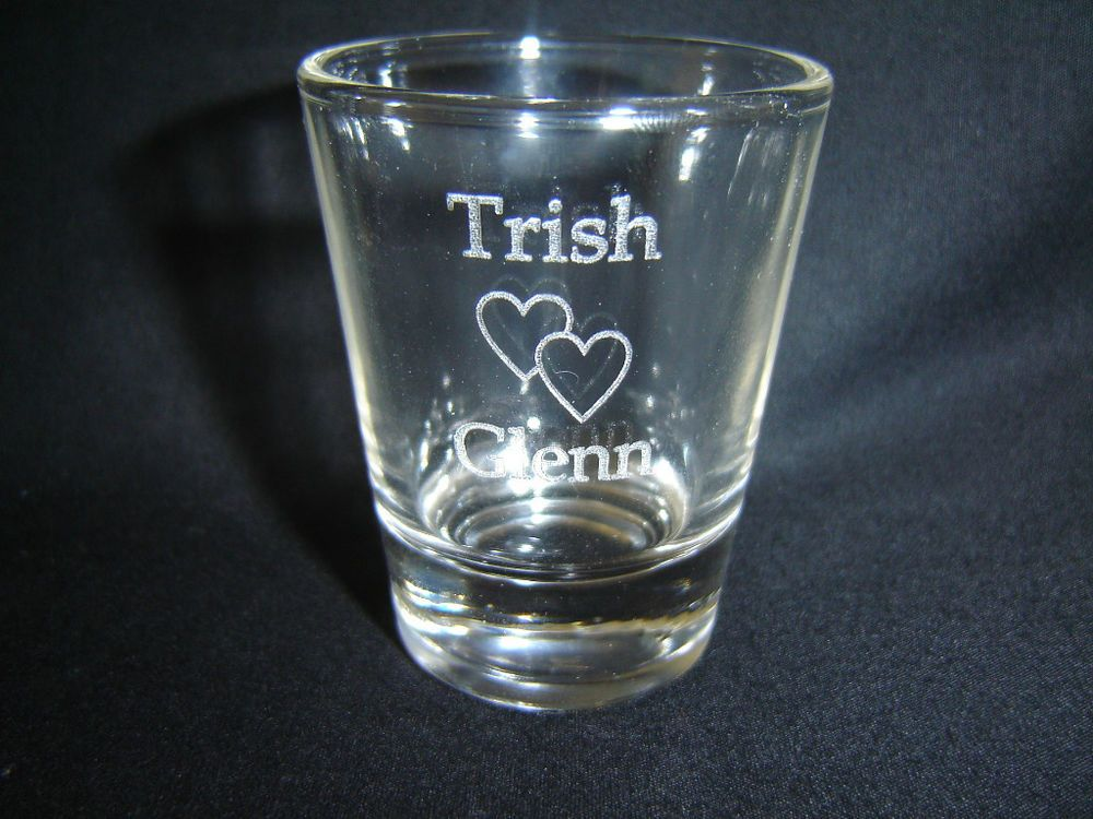 Personalised shot glasses Awesome! Personalized