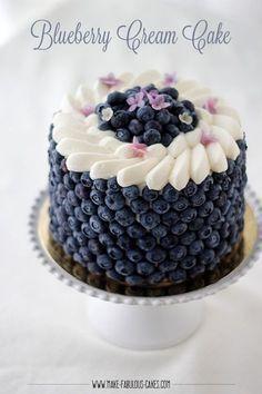 Blueberry Cream Cake -   13 cream cake design ideas