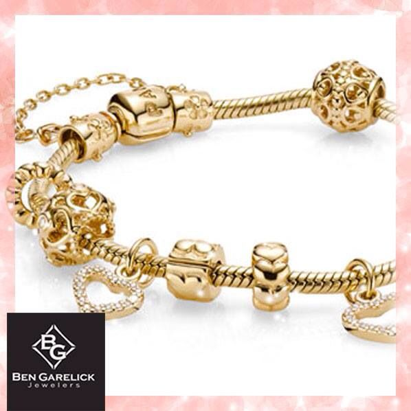Gold pandora bracelet