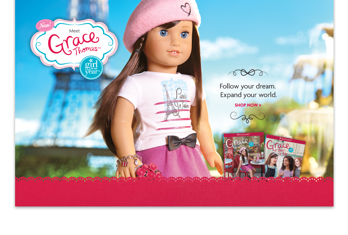 Meet Grace Thomas, Girl of the Year 2015. Follow your dream. Expand your world. SHOP NOW